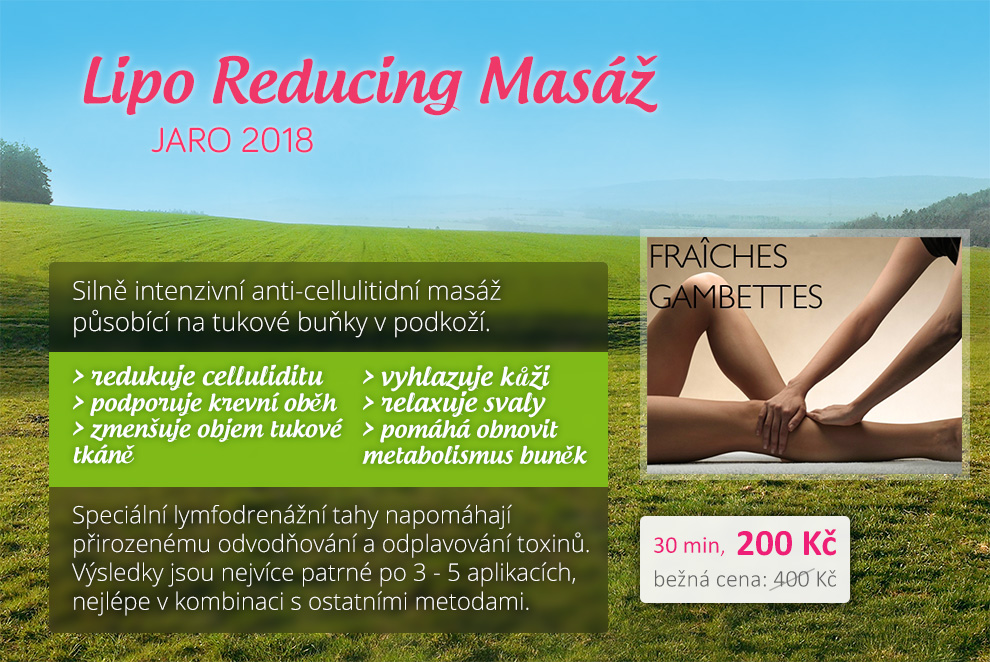 Lipo Reducing Masáž, Jaro 2018